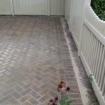 brick concrete patio