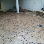 brown stone patio